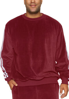 Velour Stripe Sweatshirt,