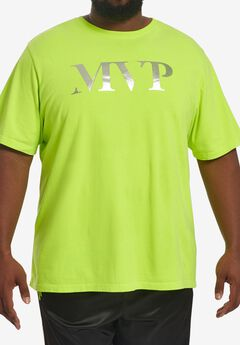 MVP Collections® Neon Logo T-Shirt, ELECTRIC LIME