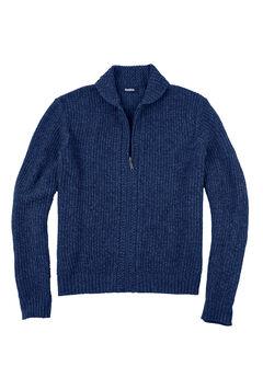 Shaker Knit Zip-Front Cardigan,