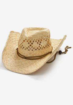 STRAW COWBOY HAT,