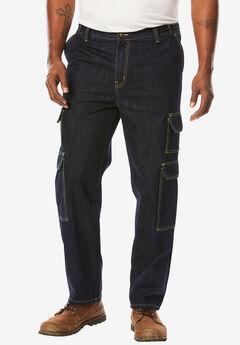 Liberty Blues® Side-Elastic Cargo Jeans,