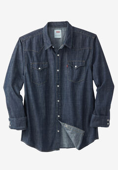 Long-Sleeve Denim Western Shirt,