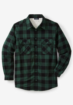Flannel Sherpa Lined Shirt,