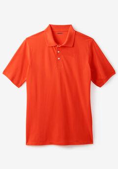 Pima Piqué Polo Shirt, RED ORANGE