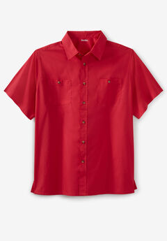 Short-Sleeve Pocket Sport Shirt,