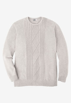 Liberty Blues™ Crewneck Cable Knit Sweater,