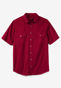Boulder Creek® Short Sleeve Denim & Twill Shirt,