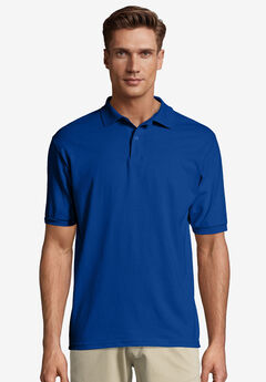 Hanes® Cotton-Blend EcoSmart® Jersey Polo,