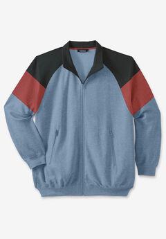 KS Sport™ Wicking Color Block Full Zip Track Jacket,