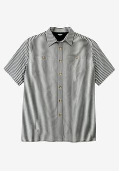 Striped Short-Sleeve Sport Shirt,