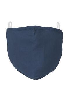 2-Layer Extra Large Reusable Cotton Face Mask - Men's, NAVY