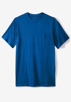 Pima Short-Sleeve Pocket Crewneck T-Shirt,
