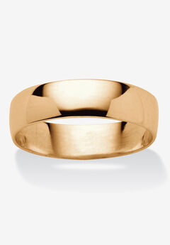 14k Gold over Sterling Silver Wedding Band Ring,