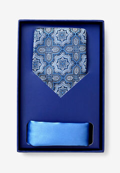 KS Signature Extra Long Tie and Pocket Square Gift Set,