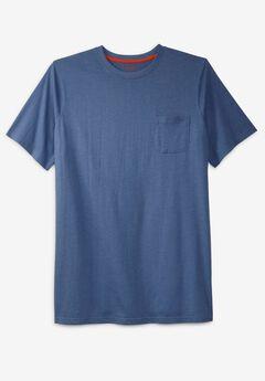 Boulder Creek® Heavyweight Longer-Length Pocket Crewneck T-Shirt,