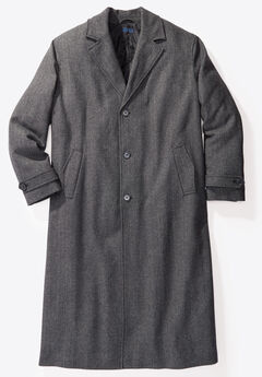 Wool-Blend Long Overcoat,
