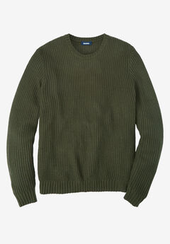 Shaker Knit Crewneck Sweater,