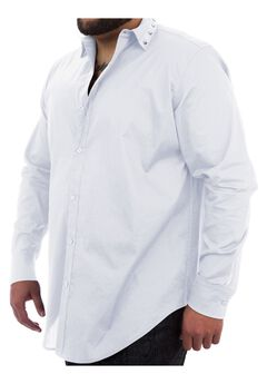 MVP Collections® Spike Collar Button-Down Shirt,