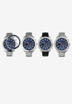 Silvertone/Black Watch Set,