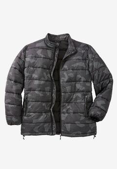 KS Sport™ Lightweight Packable Puffer Jacket, BLACK PRINT
