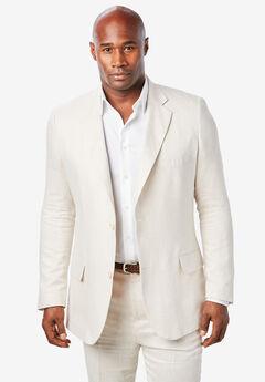 KS Island™ Linen Blend Two-Button Suit Jacket, NATURAL