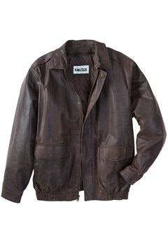 Leather Aviator Jacket,