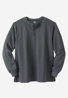 Liberty Blues™ Easy-Care Ribbed Knit Henley,