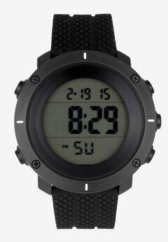 Date/Alarm Digital Watch with Silicone Band,