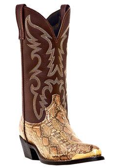 "Laredo 12"" Snake Print Boots,"
