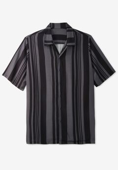Short-Sleeve Colorblock Rayon Shirt,