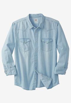 Long-Sleeve Denim Western Shirt,