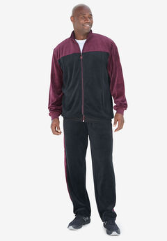 Colorblock Velour Tracksuit,