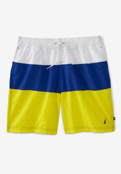 "Nautica® Tricolor 8"" Swim Trunks,"