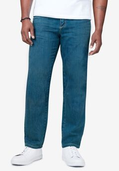 Liberty Blues™ Relaxed-Fit Side Elastic 5-Pocket Jeans,