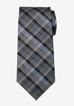 KS Signature Extra Long Classic Plaid Tie,
