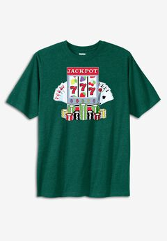 POKER GRAPHIC TEE,