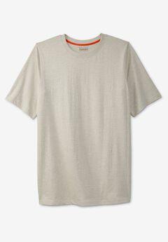 Boulder Creek® Heavyweight Jersey Crewneck T-Shirt, HEATHER OATMEAL