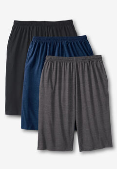 Lightweight Extra Long Shorts 3-Pack,