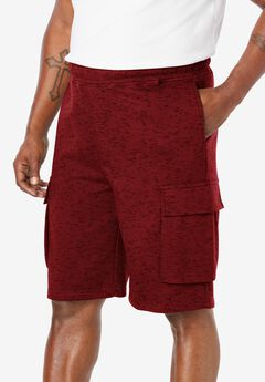 "Fleece 10"" Cargo Shorts,"