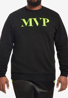 MVP Collections® Neon Logo Sweatshirt, ONYX ELECTRIC LIME