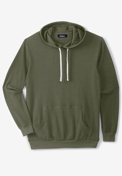 Waffle-Knit Thermal Hoodie,