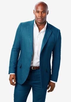 KS Island™ Linen Blend Two-Button Suit Jacket, NAVY