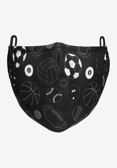 2-Layer Extra Large Reusable Cotton Face Mask - Men's, SPORTS