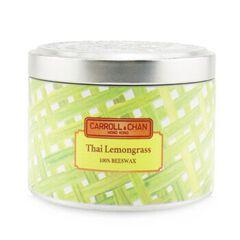 100% Beeswax Tin Candle - Thai Lemongrass,
