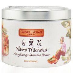 100% Beeswax Tin Candle - White Michelia, White Michelia
