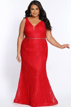Lace Is More Evening Gown Fit And Flare Silhouette,