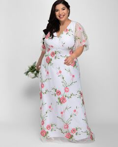 Embroidered Elegance Evening Gown,