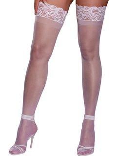 Laced Stay-up Sheer Thigh High,