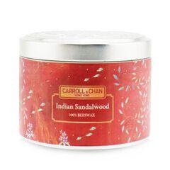 100% Beeswax Tin Candle - Indian Sandalwood, Indian Sandalwood