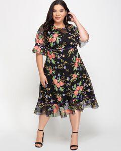 Wildflower Embroidered Dress,